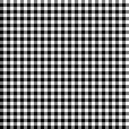 Checkered table cloth pattern BLACK - endless Standard-Bild - 121237266