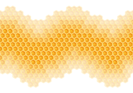 yellow honeycomb background - endless Standard-Bild - 121237273
