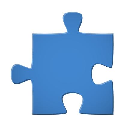 Puzzle piece blue on white