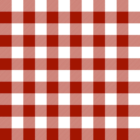 seamless checkered table cloth background colored red