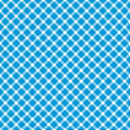 Oktoberfest background with seamless blue white checkered pattern