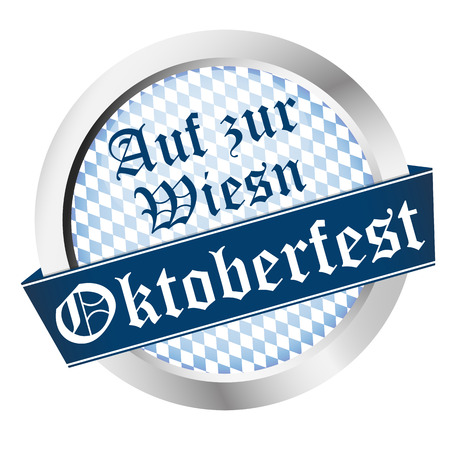 EPS 10 vector file with an button for German Oktoberfest in Munich with Go To Wiesn (in german)