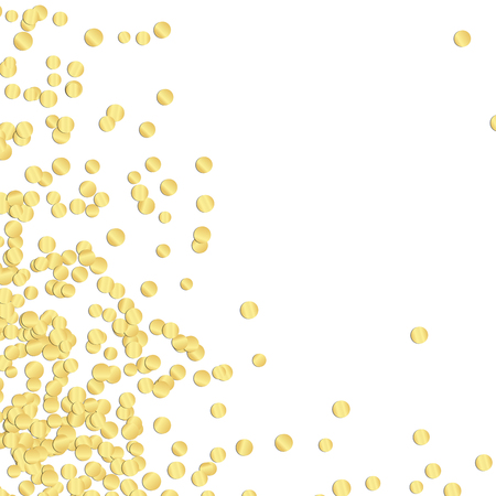 background with golden colored confetti with free space for party time