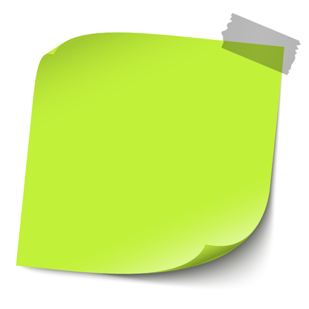 vector illustration of colored sticky note with adhesive tape