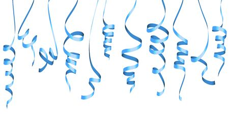 vector illustration of different colored streamers isolated on white background for party or carnival usage Ilustração