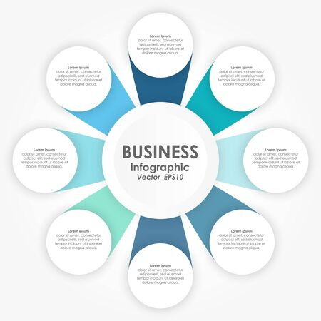 vector illustration of info graphic for team work business concepts
