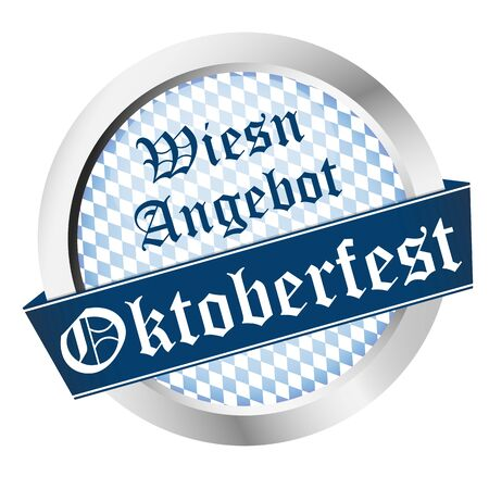 EPS 10 vector file with an button for German Oktoberfest in Munich with Wiesn Offer (in german)