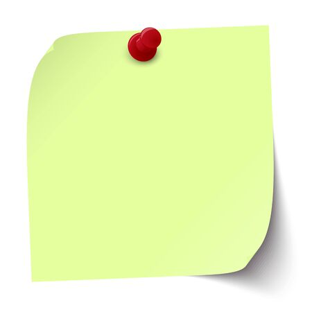 vector illustration of colored sticky note with pin needle 일러스트