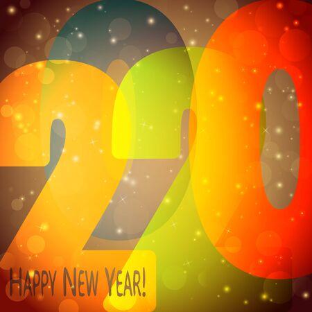 farbiges Hintergrundkonzept für Neujahrsgrüße 2020