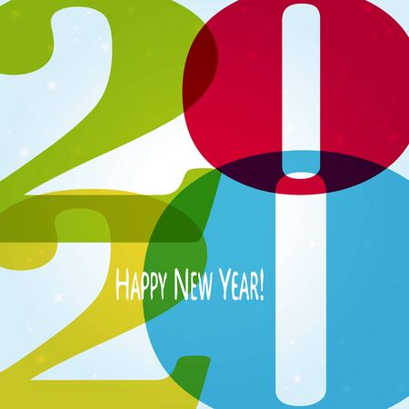 colored background concept for New Year 2020 greetings