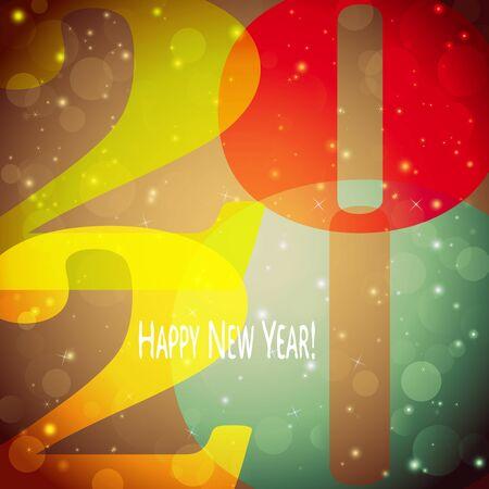 colored background concept for New Year 2020 greetings Ilustração Vetorial