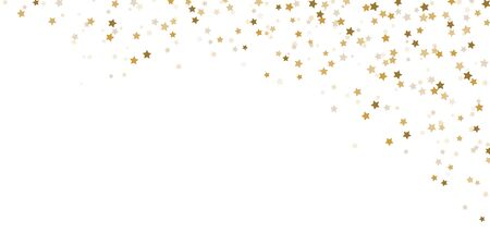 vector file showing falling confetti snow stars upper right corner background for christmas time colored gold for xmas and new year concepts