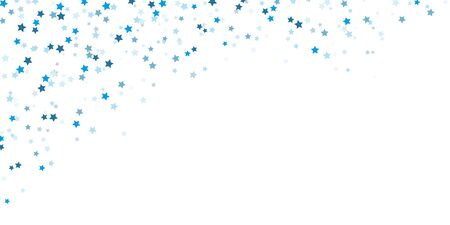 vector file showing falling confetti snow stars upper left corner background for christmas time colored blue for xmas and new year concepts