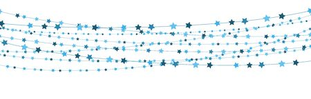 EPS 10 vector file showing stars on strings background for christmas time colored blue for xmas and new year concepts  イラスト・ベクター素材