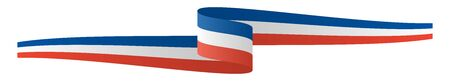 vector illustration of panorama seal of quality country flag banner FRANCE  イラスト・ベクター素材