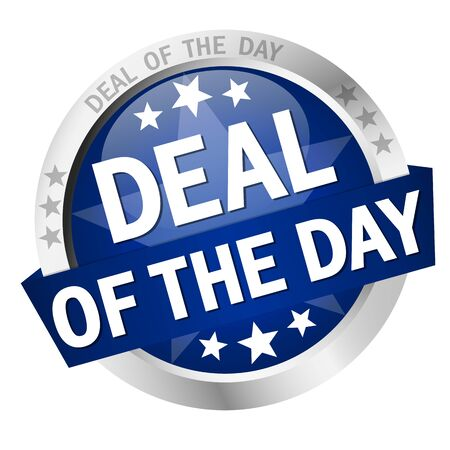 colored button with banner and text Deal of the day
