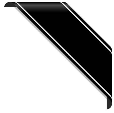 concept de deuil avec bannière de sensibilisation noire sur blanc Vecteurs