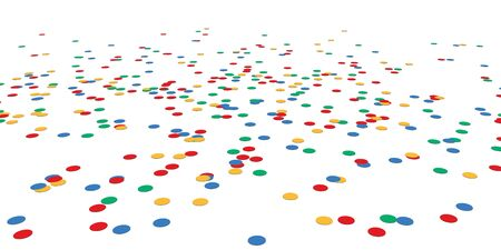 colored lying confetti background for carnival party