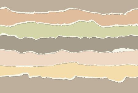 collection of seamless paper rips different colors Vector Illustratie