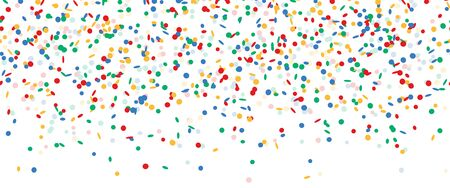 colored falling confetti seamless background for carnival party