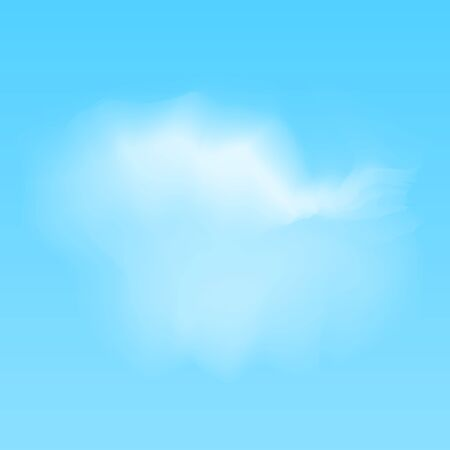 vector illustration of white realistic clouds on blue background