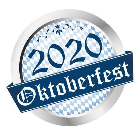 vector of button for German Oktoberfest 2020 in Munich