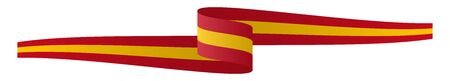 eps 10 vector illustration of panorama seal of quality country flag banner SPAIN