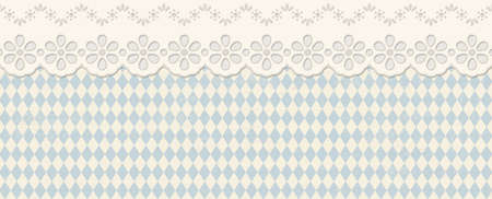 old vintage background with checkered pattern and patch with text O'zapft is (in german)