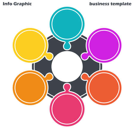 vector file for business info graphic template designs, team work concepts and data information with six options