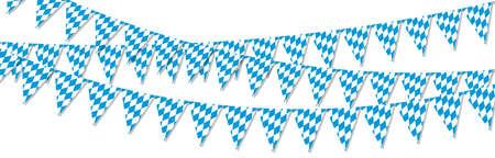 different Oktoberfest 2020 2021 garlands having blue and white checkered pattern