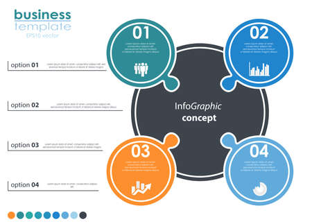 vector file for business info graphic template designs, team work concepts and data information with four options