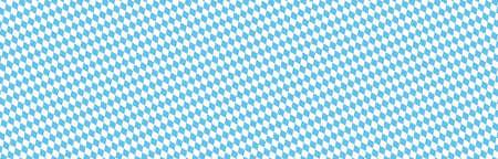Oktoberfest 2020 background with seamless blue white checkered pattern