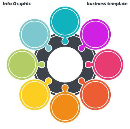 EPS 10 vector file for business info graphic template designs, team work concepts and data information with eight options
