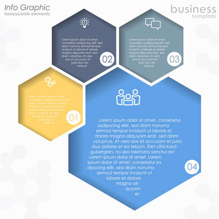 EPS 10 vector file for business info graphic template designs, team work concepts and data information with four process options 矢量图像