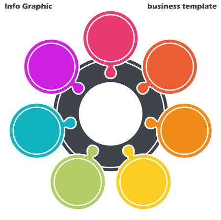 EPS 10 vector file for business info graphic template designs, team work concepts and data information with seven options