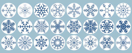 eps10 vector file with collection of different abstract snow flakes for xmas and winter time concepts