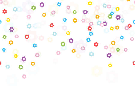 seamless background with different colored confetti blossoms for happy spring time, easter festival or other nature concepts Çizim