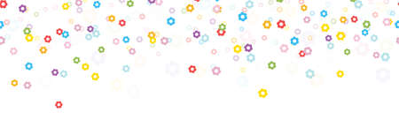 seamless background with different colored confetti blossoms for happy spring time, easter festival or other nature concepts Vector Illustration