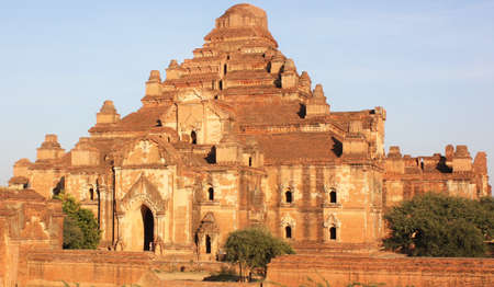 Dhammayangyi Temple, the largest temple in the Bagan archaeological zone, Myanmar. Large, well preserved ancient pyramid shaped temple ruins