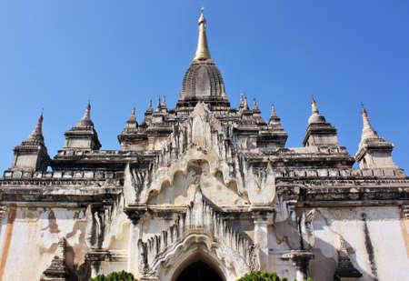Front view of Ananda Temple in Bagan, Myanmar
