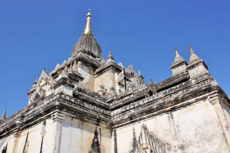 Beautiful architecture of the Ananda Temple in Bagan, Myanmar 스톡 콘텐츠