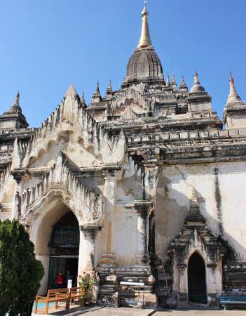 Bagan, Mandalay Region / Myanmar - December 15, 2019: Entrance of ancient Ananda Temple in Bagan, Myanmar 에디토리얼