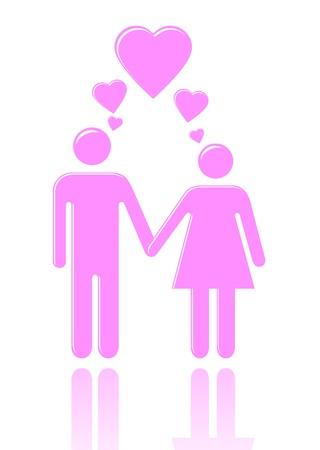 남자와 사랑에 여자