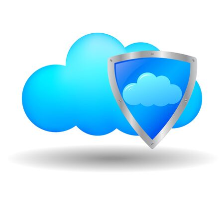 Cloud computing security Stock Vector - 18167055