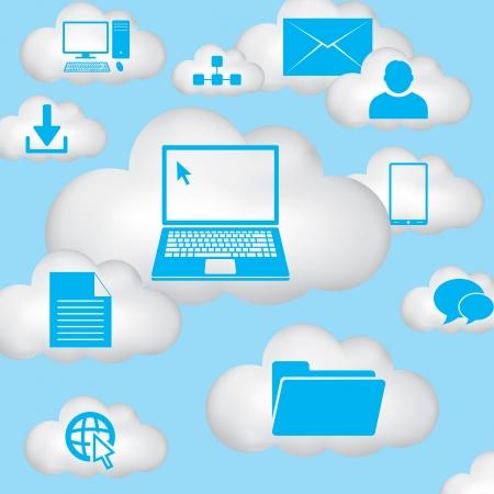 Cloud computing concept Ilustracja