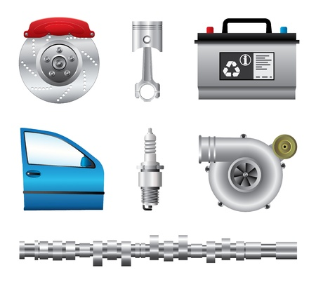 car tuning: Car parts set