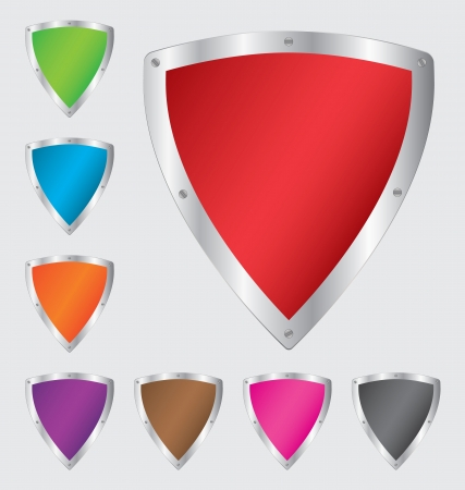 Colorful shield set Stock Vector - 20246033