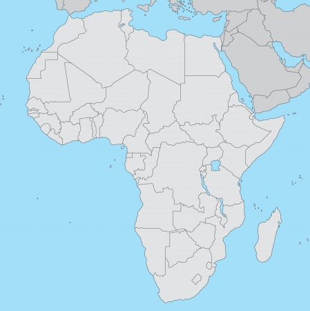 africa continent: Map of Africa
