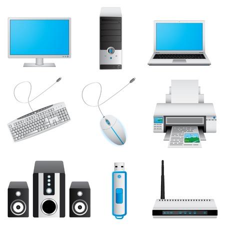 Computer icon set Stock Vector - 20682732