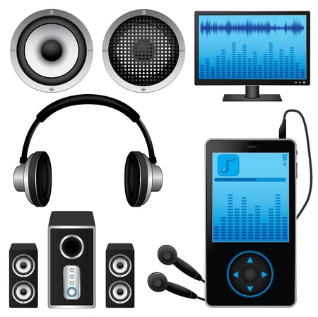 music loudspeaker: Music Icons Set